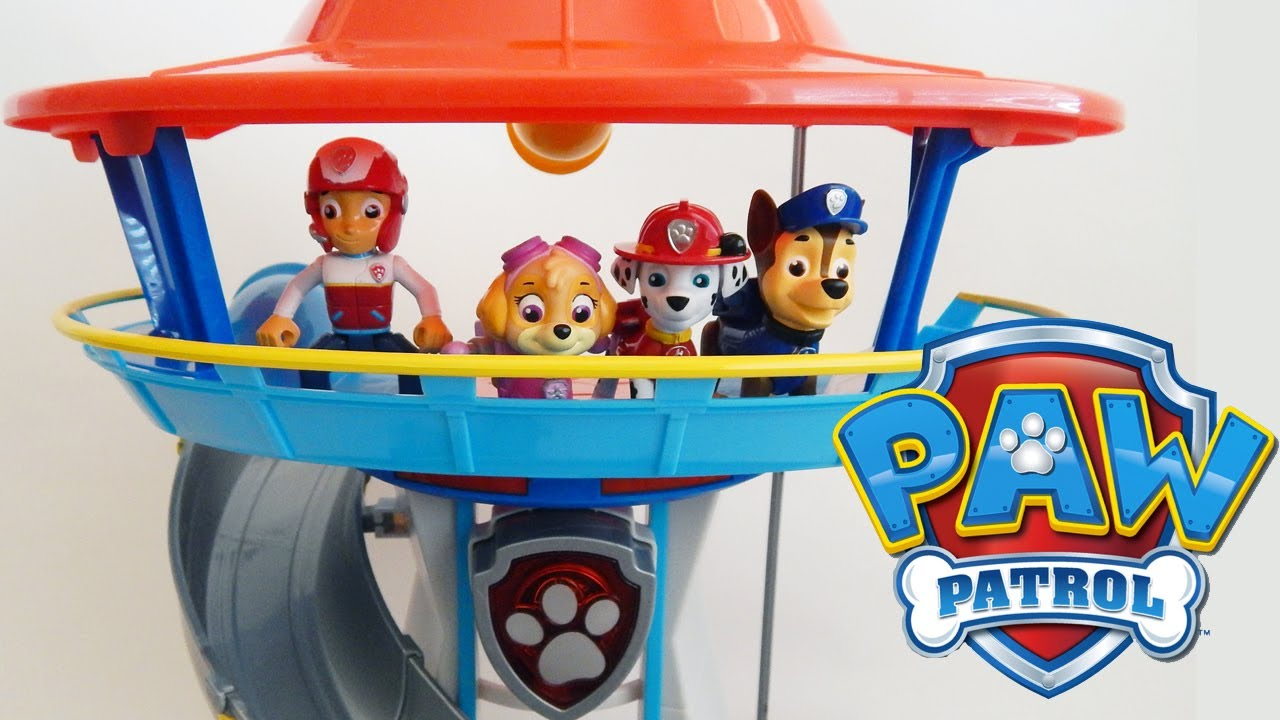 Paw Patrol Lookout Playset With Chase And His Police Vehicle Toy By