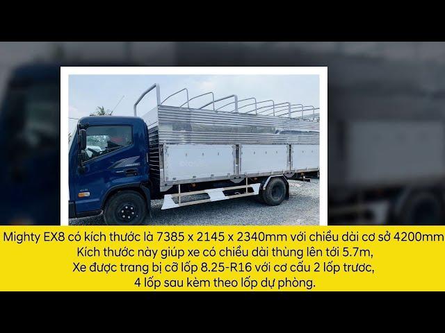 Giới thiệu xe tải Hyundai Ex8 ông vua trong phân khúc | Ô Tô Miền Nam