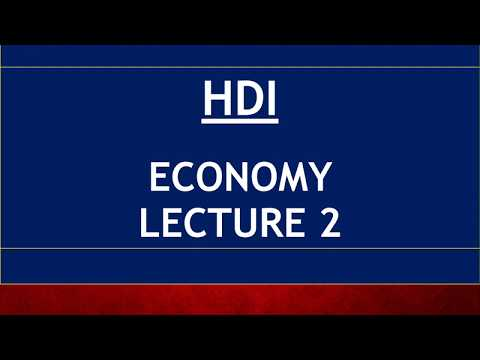 Economy for UPSC - Lecture 2 - HDI, Gini Coeffecient, SDG, Green GDP