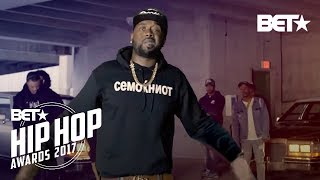 Video 2017 BET Hip Hop Awards Digital Cypher Featured Griselda AND Shady Records download MP3, 3GP, MP4, WEBM, AVI, FLV Januari 2018