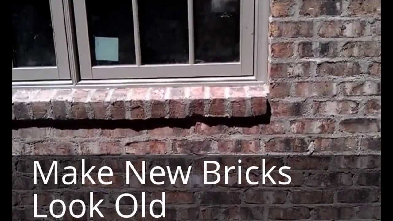 Bill 39 s construction tip make your new bricks look old - How to make a brick fireplace look modern ...