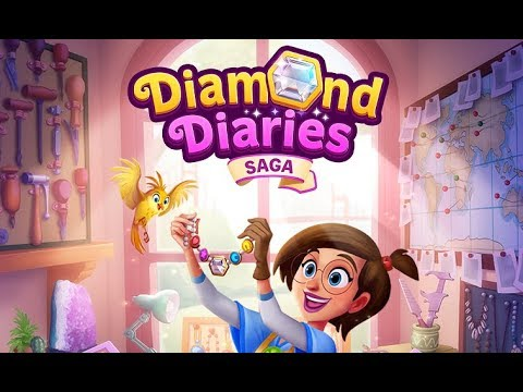 DIAMOND DIARIES SAGA Android / iOS Gameplay Trailer | First Levels and Diamond Necklace