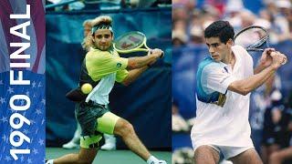 Pete Sampras vs Andre Agassi   US Open 1990 Final