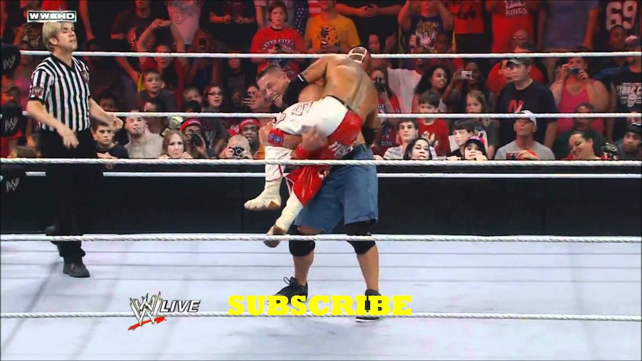 WWE John Cena vs Rey Mysterio 2018 - YouTube
