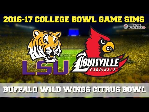 2016 Buffalo Wild Wings Citrus Bowl Sim | LSU vs Louisville (NCAA Football 14)