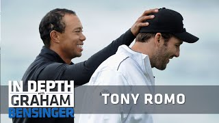 Tony romo recounts a nerve-racking round of golf at the at&t pebble beach proam. was partnered with tiger woods and found himself in sand trap when se...