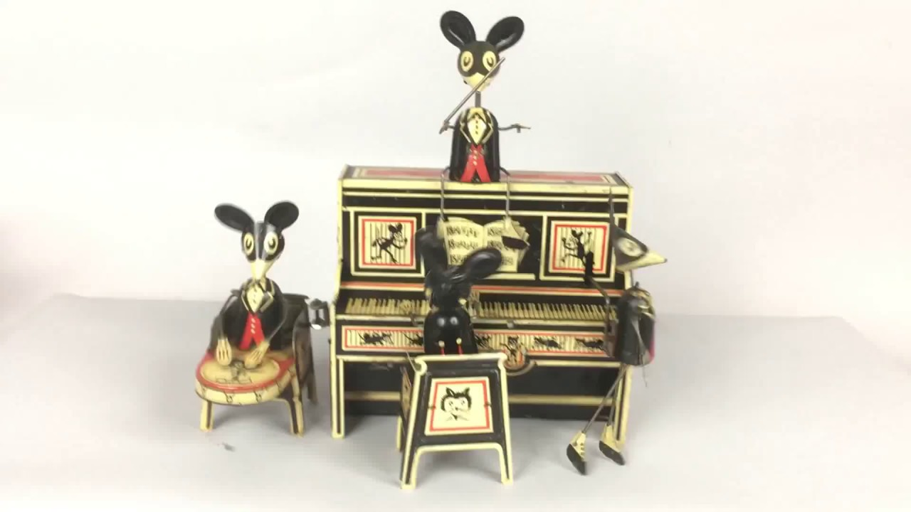 1929 merry makers mouse band by marx youtube. Black Bedroom Furniture Sets. Home Design Ideas