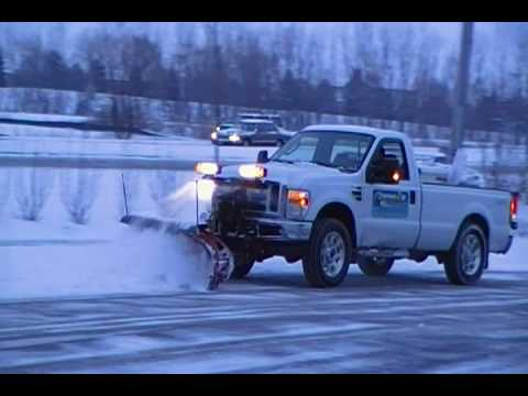 Western Plow York Electric Furnace Wiring Diagram Schematic 2008 F250 Superduty Plowing Snow - Youtube