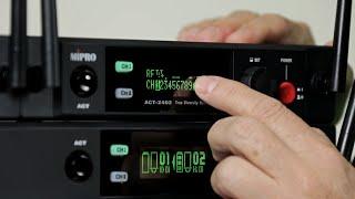 《頻道掃描(SCAN)設定》2.4GHz數位無線麥克風系統 使用說明