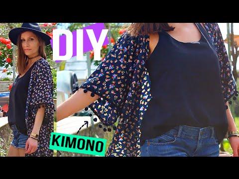 diy mode meilleure methode pour faire un kimono a pompons frange diy francais youtube. Black Bedroom Furniture Sets. Home Design Ideas