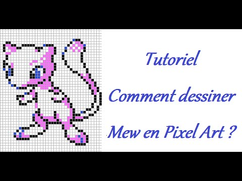 Tutoriel Comment Dessiner Mew Pixel Art Youtube