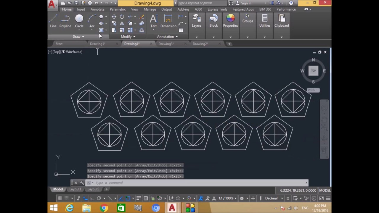 Move copy rotate mirror command in autocad 2017 by for Copy cad