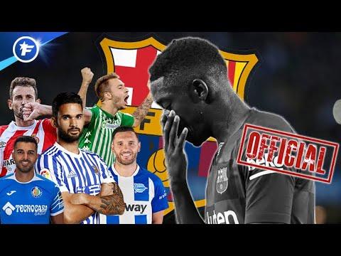 OFFICIEL : Ousmane Dembélé Absent 6 Mois, Le Barça Cherche Son Remplaçant   Revue De Presse