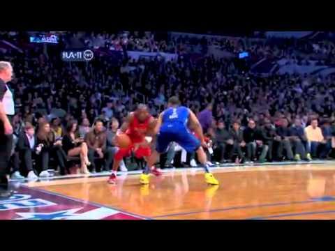 (NBA All Star 2011)- Kobe Bryant Huge Reverse Jam