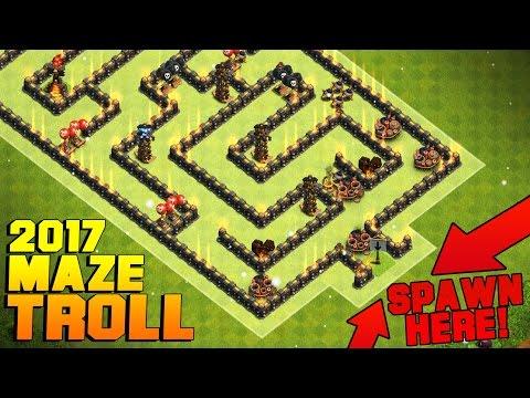 Clash of Clans | UNBEATABLE MAZE TROLL BASE 2017 | WEIRD ANTI MAX TH11 TROLL BASE + PROOF