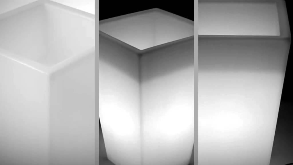LED Pflanzkübel Trapez groß von myfab - YouTube
