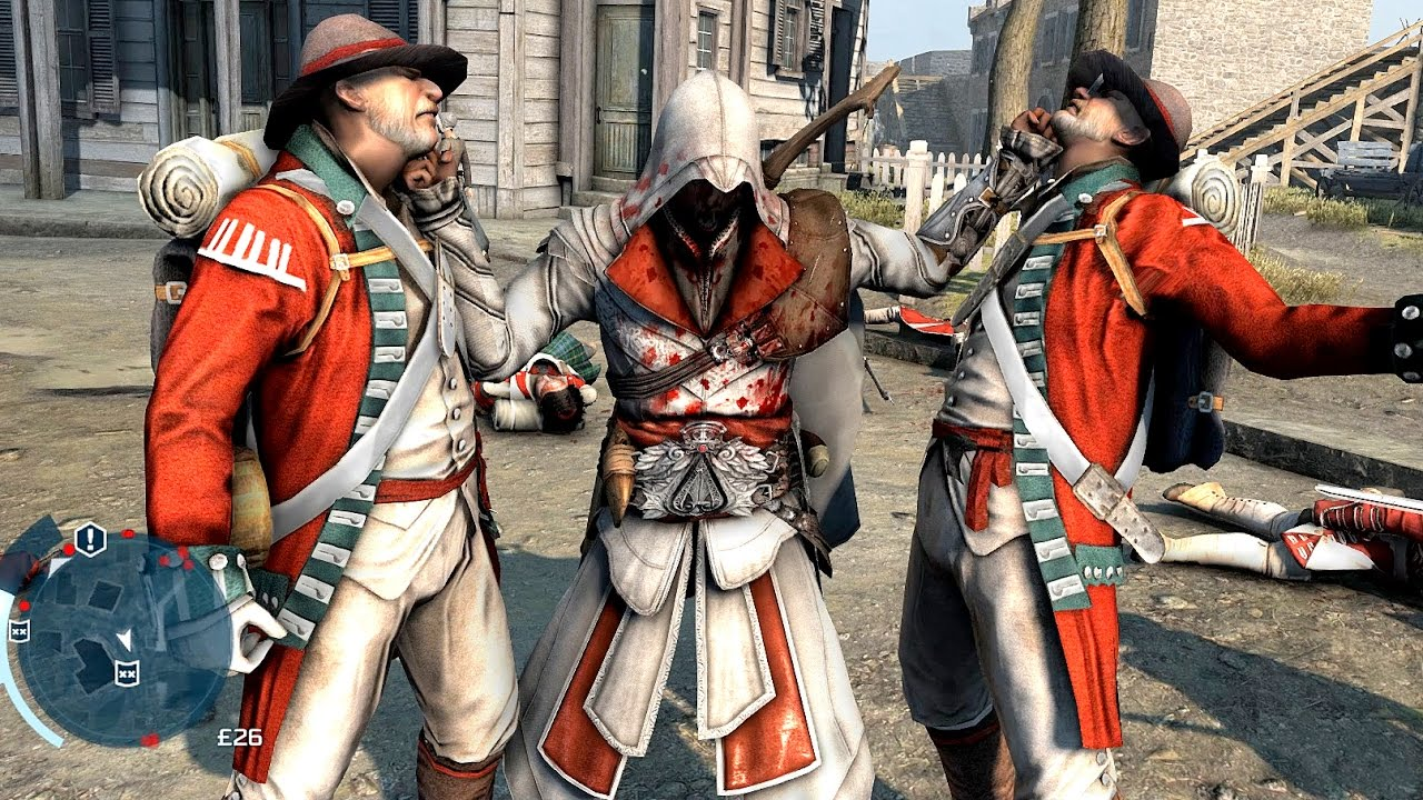 Assassin S Creed 3 Rampage With Connor In Ezio S Outfit Youtube