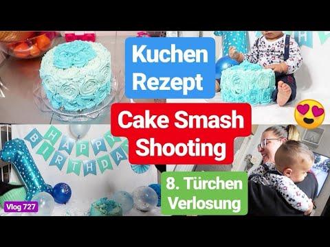 Cake Smash Baby Shooting Zu Hause Kuchen Selbst Backen L 8