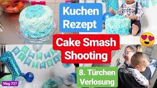 CAKE SMASH Baby Shooting zu Hause! Kuchen selbst