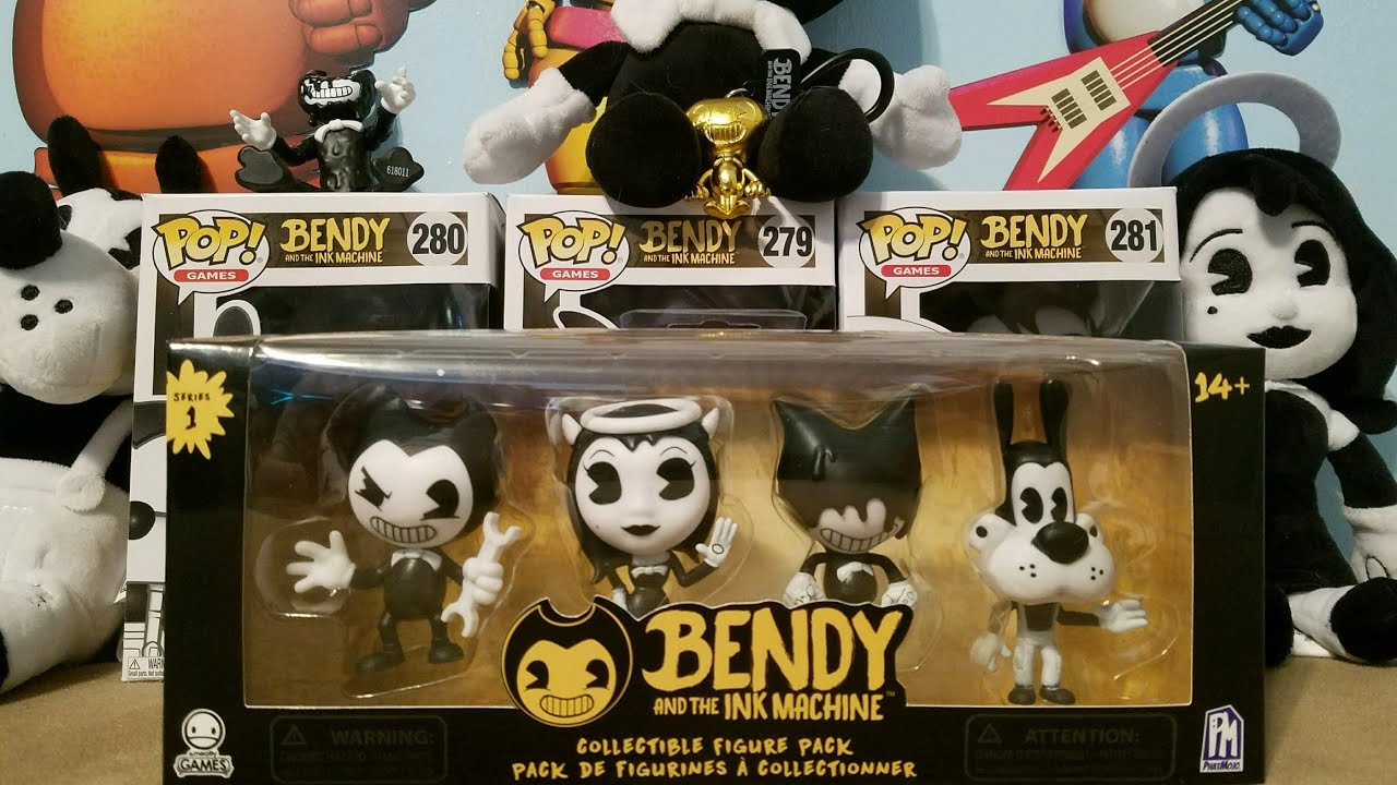New Bendy and the Ink Machine Collectible Figure 4 Pack Phatmojo Series 1
