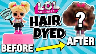 WE DYED HER HAIR BROWN!! OOPS BABY gets an EXTREME HAIR MAKEOVER | LOL SURPRISE HAIR GOALS Doll DIY