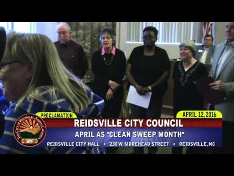 April 12, 2016 Reidsville City Council