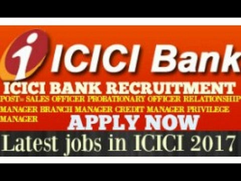 JOBS IN ICICI BANK - YouTube