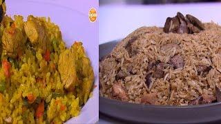كبسة دجاج - أرز معمر - أرز بالخلطة بالكبد والقوانص - أرز أخضر بالشبت  | على قد الأيد حلقة كاملة