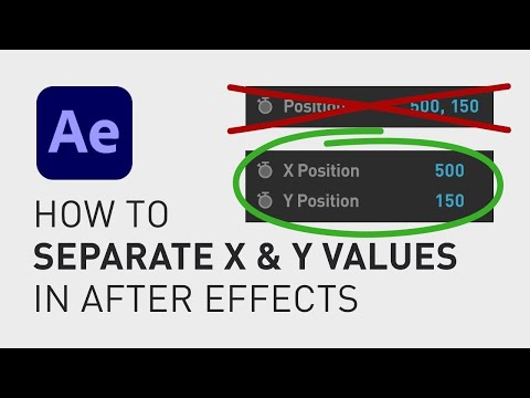 How to separate X and Y values After Effects