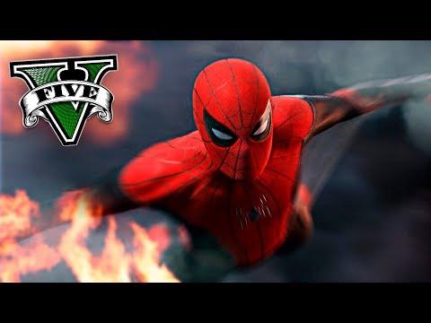 GTA V MODS - EL NUEVO SPIDERMAN EN LOS SANTOS !! RANDOM MOMENTS - ElChurches