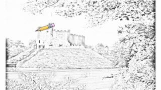 Auto Draw 2: Cardiff Castle, Wales, United Kingdom