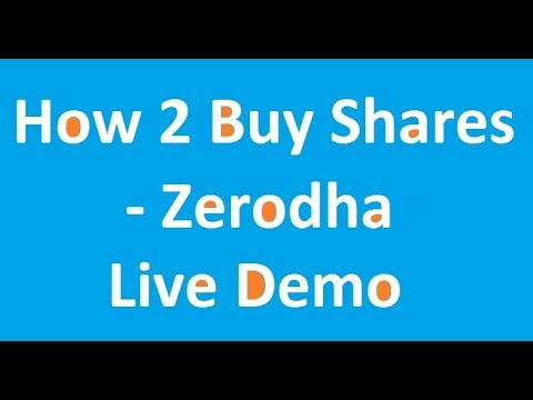How to buy shares in Zerodha - Live Demo for beginners in Tamil