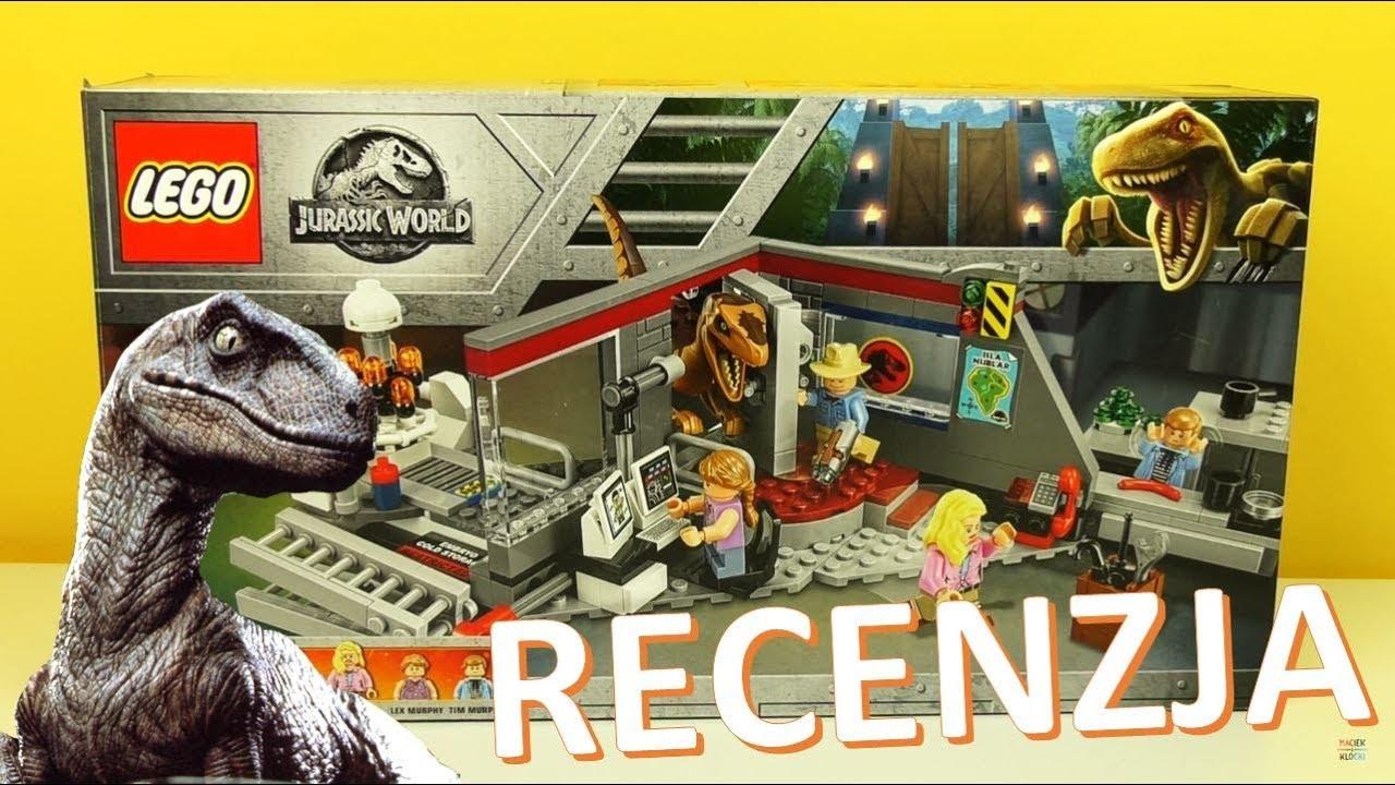 Lego Jurassic World Pościg Raptorów 75932 Recenzja Youtube