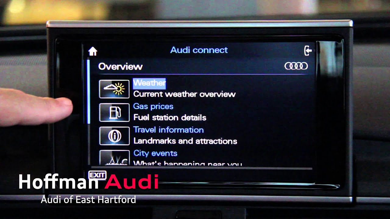 Audi Mmi Connect >> Audi Connect: Wi-Fi In Your Car - YouTube
