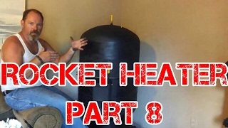 Rocket Heater Wood Stove Build Part 8 (preliminary Test Fire)