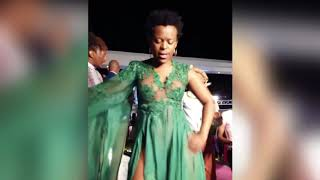 Zodwa Wabantu pantyless at Feather Awards 2017