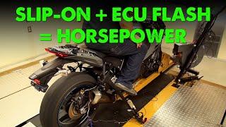 Kawasaki Ninja ZX 10R 2019 Slip On Cat Delete with Flashed ECU Horsepower