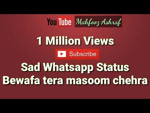Bewafa tera masoom chehra WhatsApp status