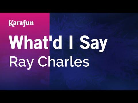 Karaoke What'd I Say - Ray Charles *
