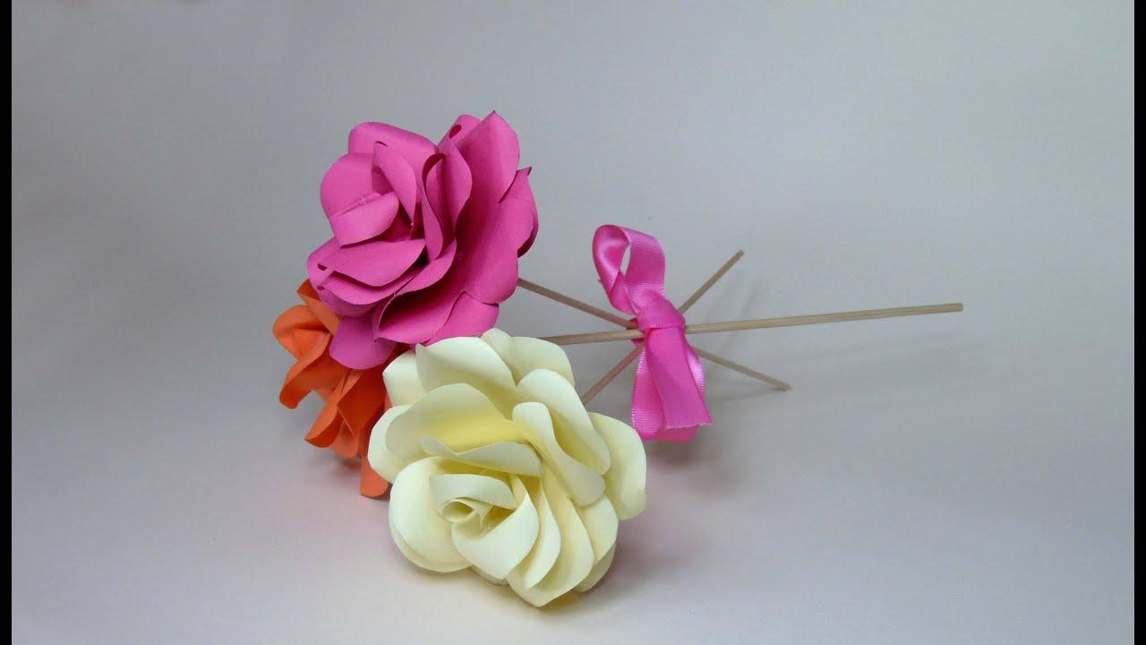 C mo hacer rosas de cartulina youtube - Www como hacer flores com ...