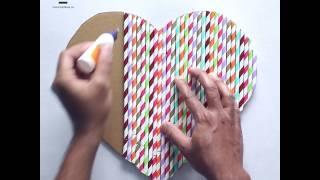 DIY Crafts: Straw Heart Wall Hanging