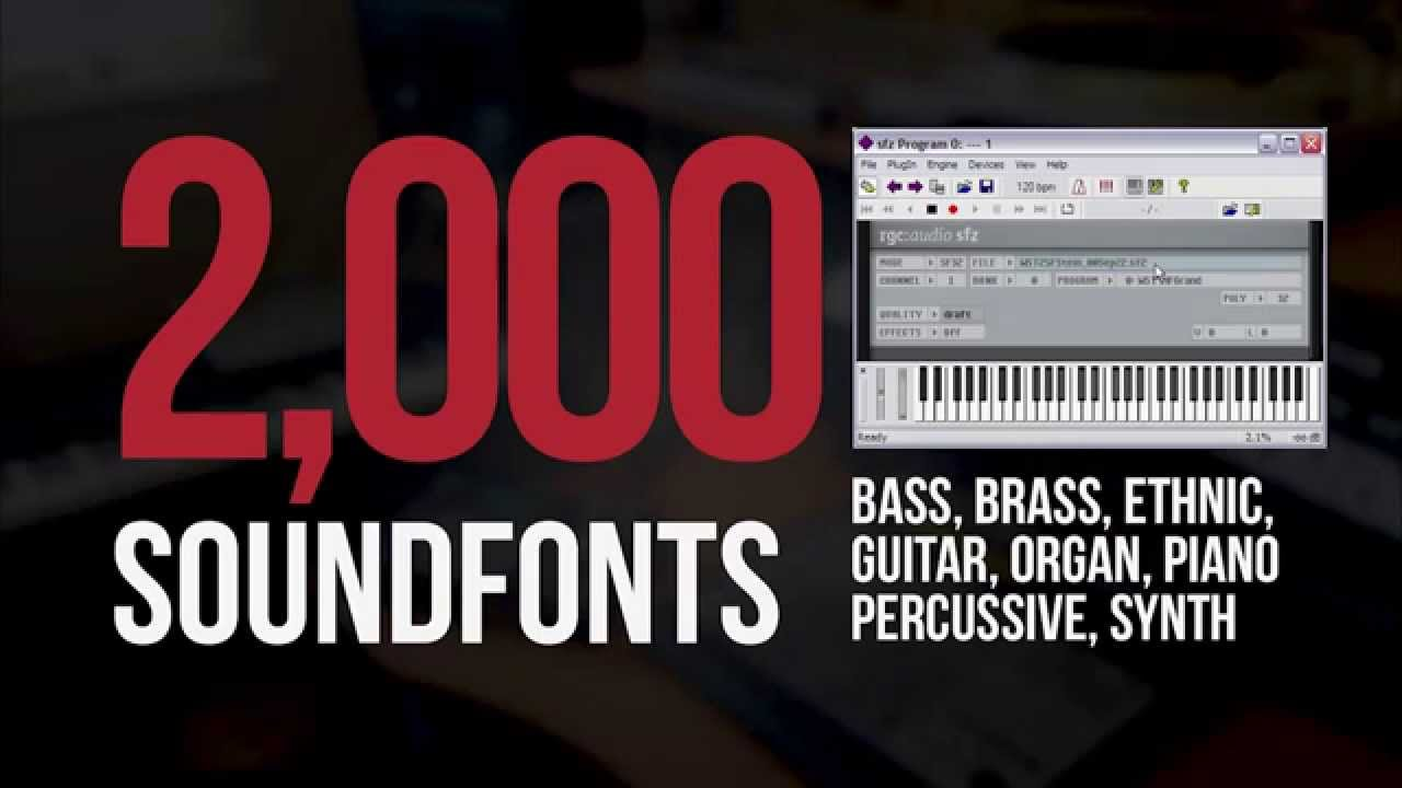 2,000 FREE SoundFonts