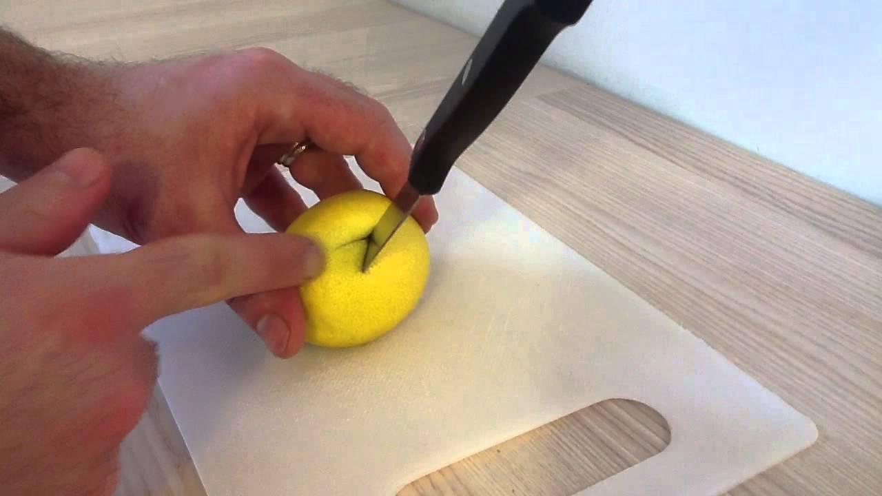 Historier un citron couper un citron en dent de loup youtube - Comment nettoyer un citron traite ...