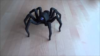 T8 3D Printed Octoped Robot - Spider Salsa Rumba! Halloween 2013