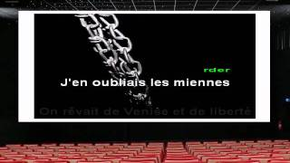 Karaoké - Francis Cabrel - L'Encre de tes Yeux