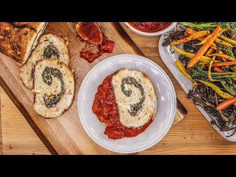 How To Make Rolled Turkey Meatloaf And Autumn Spiced Tomato Sauce By Rachael