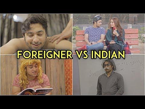 Foreigner Vs Indian | Harsh Beniwal thumbnail
