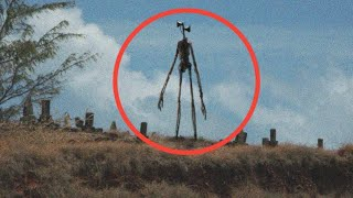 #5 Siren Head Caught on Camera In Real life