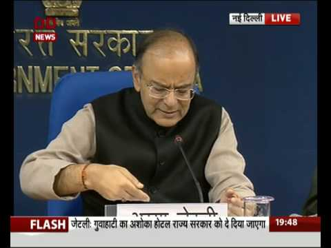 Union Minister Arun Jaitley briefs media over cabinet decisions