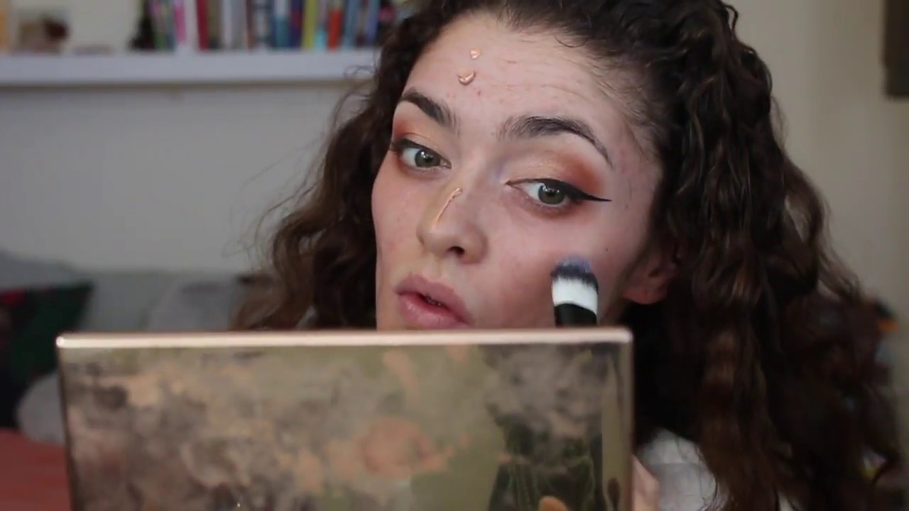 how i cover redness and scarring + a little eye look